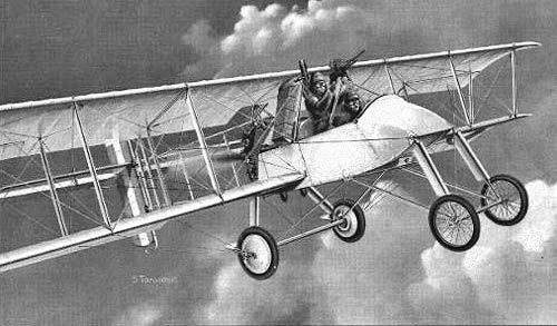 5 October 1914 - French Voisin III two seat Ground Attack and bomber Airplanes
