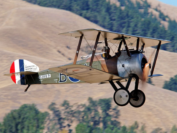 10 June 1917 -  British Sopwith Camel Single-seat Biplane Fighter Aircraft