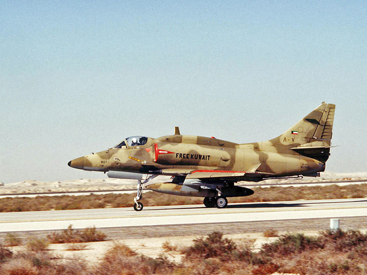 1991 Gulf War - The FreeKuwait A-4KU Skyhawk, Ahmed Al Jaber Air Base, Kuwait
