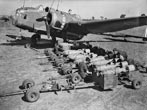 1940 - RAF Loading bombs onto a World War II Handley Page Hampden