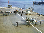 Seafire Aircraft on British Aircraft carrier. ca.1942. (Photo Hulton-Deutsch Collection/CORBIS)