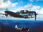 U.S. Navy SBD Dauntless dive bombers head back to the carrier after releasing bombs on Wake Island. October 05, 1943. (Photo by Bettmann/CORBIS)