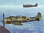 The German Focke-Wulf Fw 190A Würger (shrike), often called Butcher-bird (usually for the radial engined version), was a single-seat, single-engine fighter aircraft of Germany's Luftwaffe, and one of the best fighters of its generation. Used extensively during the Second World War, over 20,000 were manufactured, including around 6,000 fighter-bomber models.