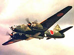 The Japanese Mitsubishi G4M Betty was a versatile Long-range Bomber with good speed and an impressively long range, but like most Japanese aircraft, was poorly protected. The lack of armor or self-sealing fuel tanks gave the Betty an unfortunate tendency to burst into flames whenever it was shot at, earning it the allied nickname of the Flying Zippo. Two thousand four hundred thirty-five of these long long range land based bombers were built.