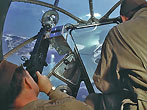 Gunners in Nose Turret of USAF Boeing B-17 Flying Fortress Bomber Aircraft during World War II. (Photo by Michael Ochs Archives/Corbis)