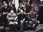 Yalta summit in February 1945 with Winston Churchill, Franklin Roosevelt and Joseph Stalin (February 1945 / U.S. National Archives)