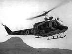 The Israeli Air Force first AB-205 Iroquois medium utility helicopters arrived in Israel in December 1967. (Peleg collection}