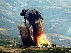 This is an Image of a blast during one of the Israeli invasions in 1978.