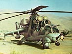 1982 - Sovieet Mi-24 Hind Attack Helicopter in Afghanistan.
