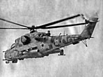Soviet Mil Mi-24V Hind-E Ground Attack Helicopter at Afghanistan 1980's