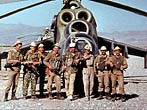 Covering 16 August 1985 evacuation of the wounded in the village under Aliheyl Gardez couple Mi-24P Kabul 50th OSAP involved suppression of enemy firing points.
