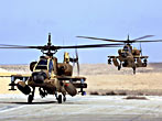 IAF-Boeing AH-64 Apache. Entered into service in 1990, this twin-seated combat helicopter is used for night and daytime combat, especially against ground targets like tanks and surface-to-air missiles. Its Hebrew nickname is Peten, meaning Adder.