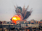 The southern city of Tyre Bombing, Lebanon, during the 2006 war with Israel.